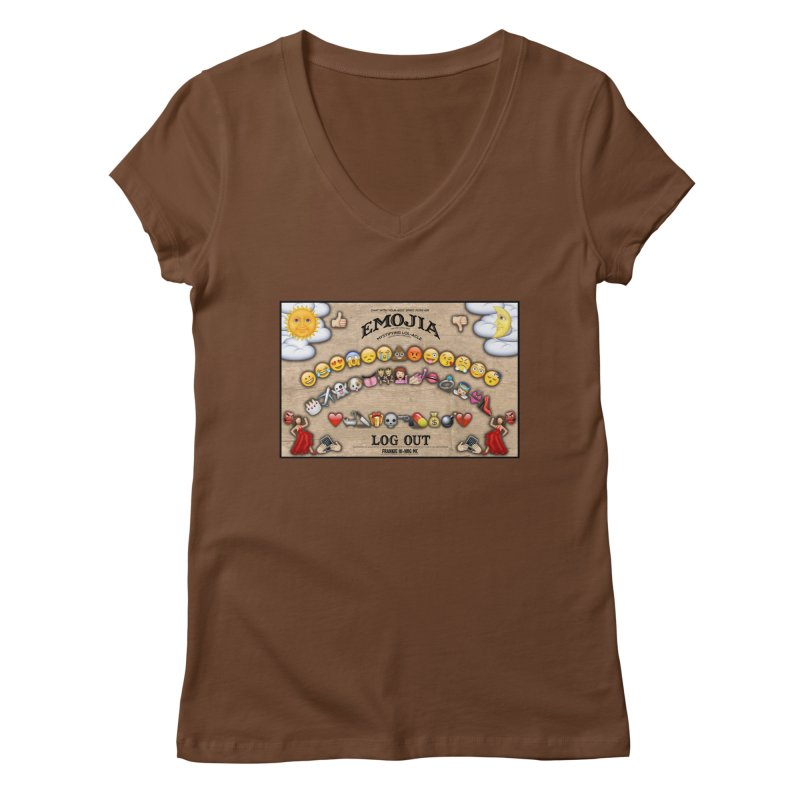 EMOJIA Women's V-Neck by Frankie hi-nrg mc & le magliette