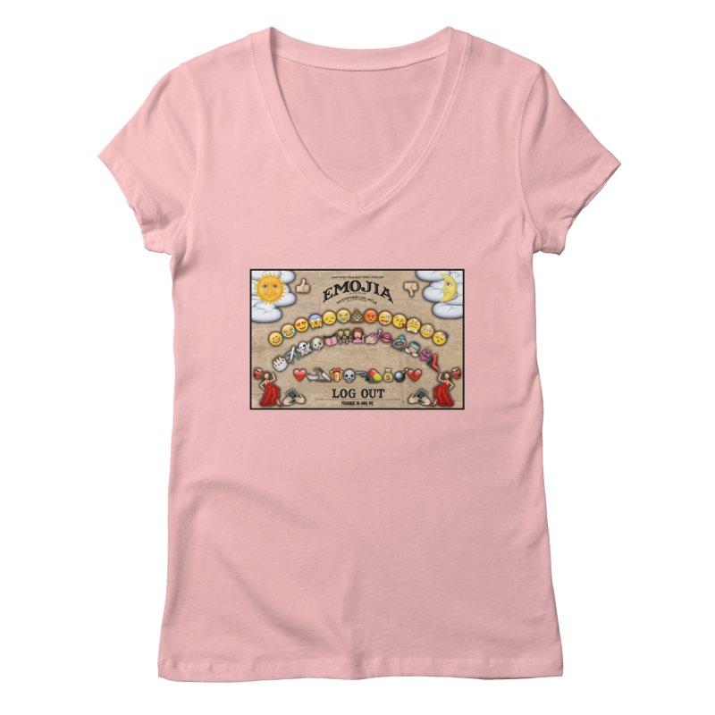 EMOJIA Women's V-Neck by Frankie hi-nrg mc & le magliette