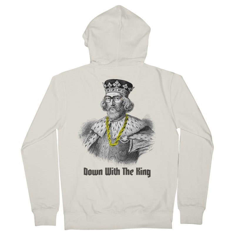 Down With The King Men's French Terry Zip-Up Hoody by Frankie hi-nrg mc & le magliette