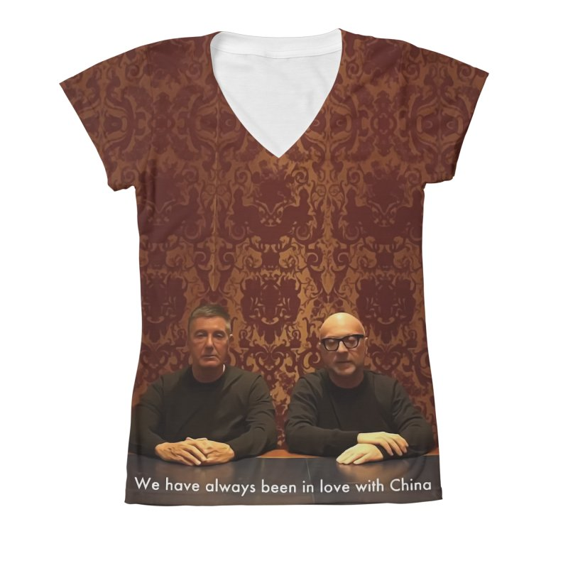 Gabbati Women's V-Neck All Over Print by Frankie hi-nrg mc & le magliette