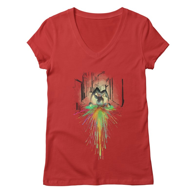 Sad Joker. Women's Regular V-Neck by franklymonkey's Artist Shop
