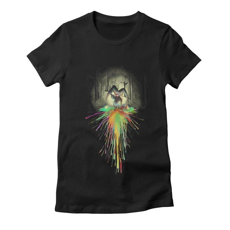 Sad Joker. Women's Fitted T-Shirt by franklymonkey's Artist Shop