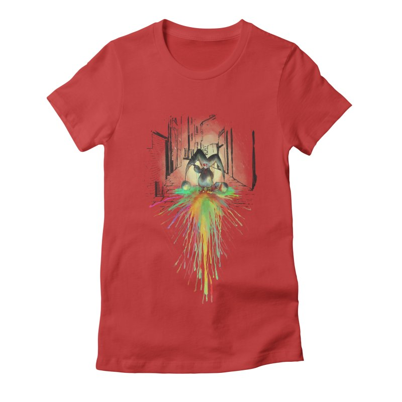 Sad Joker. Women's Fitted T-Shirt by franklymonkey's Artist Shop