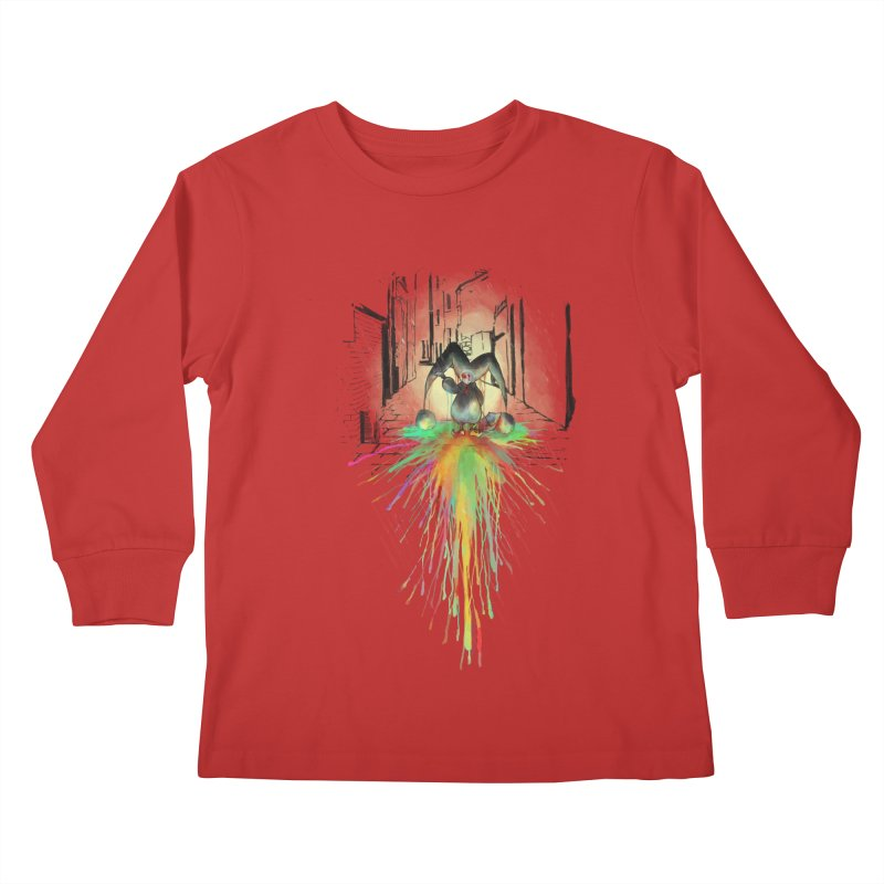 Sad Joker. Kids Longsleeve T-Shirt by franklymonkey's Artist Shop