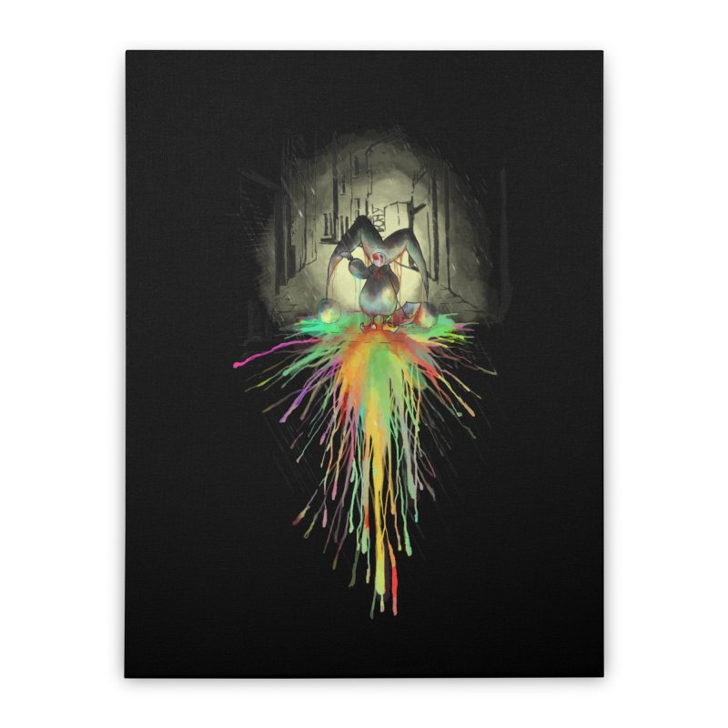 Sad Joker. Home Stretched Canvas by franklymonkey's Artist Shop