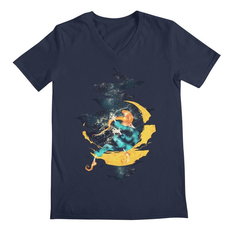 Moon Men's V-Neck by franklymonkey's Artist Shop