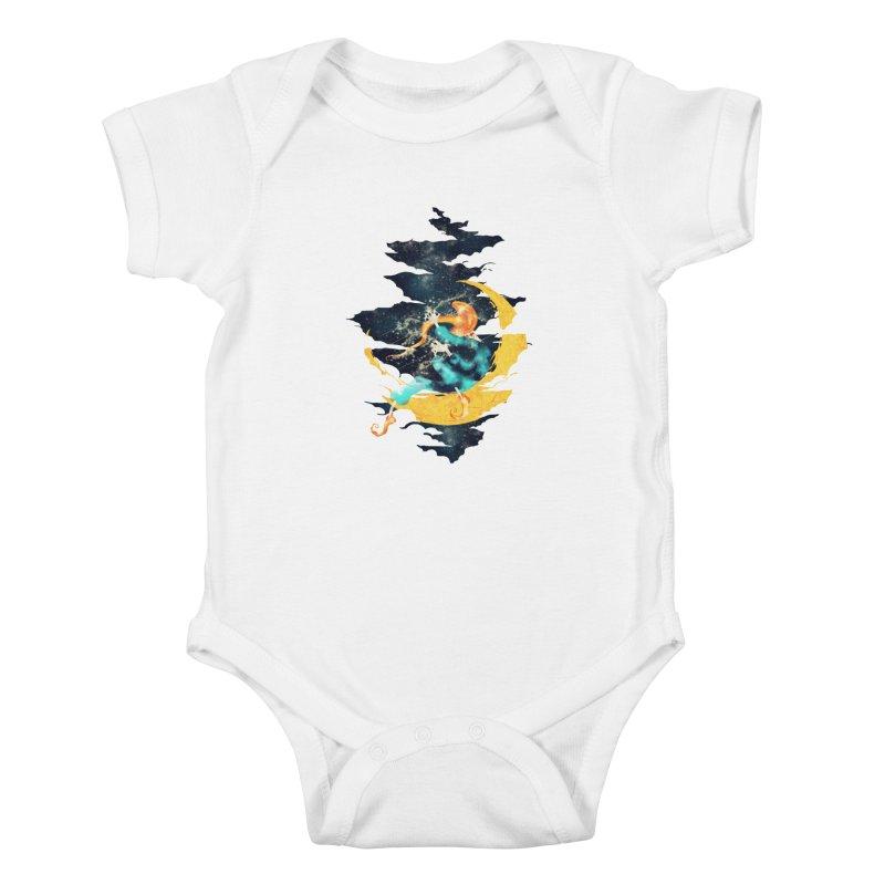 Moon Kids Baby Bodysuit by franklymonkey's Artist Shop