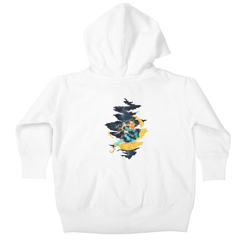 Moon Kids Baby Zip-Up Hoody by franklymonkey's Artist Shop