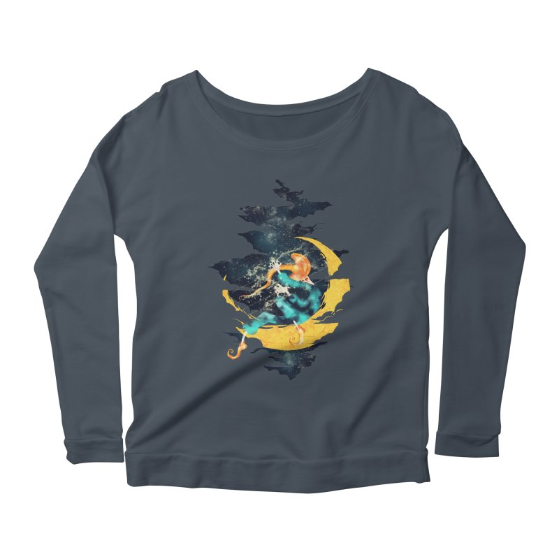 Moon Women's Longsleeve Scoopneck  by franklymonkey's Artist Shop