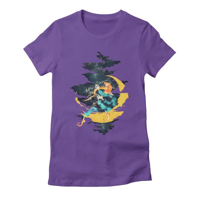 Moon Women's Fitted T-Shirt by franklymonkey's Artist Shop