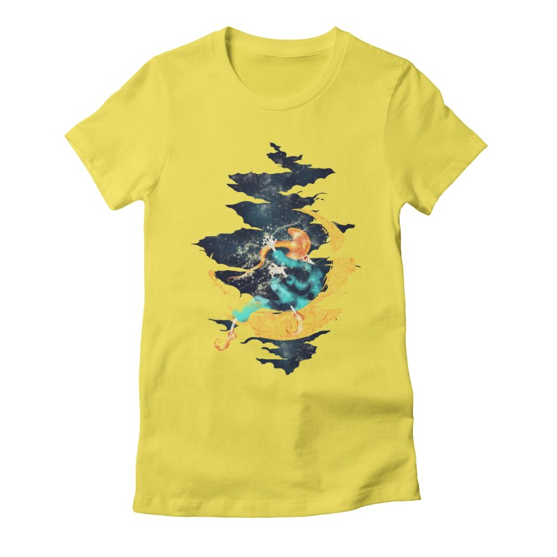 Moon Women's Fitted T-Shirt by franklymonkey's Artist Shop