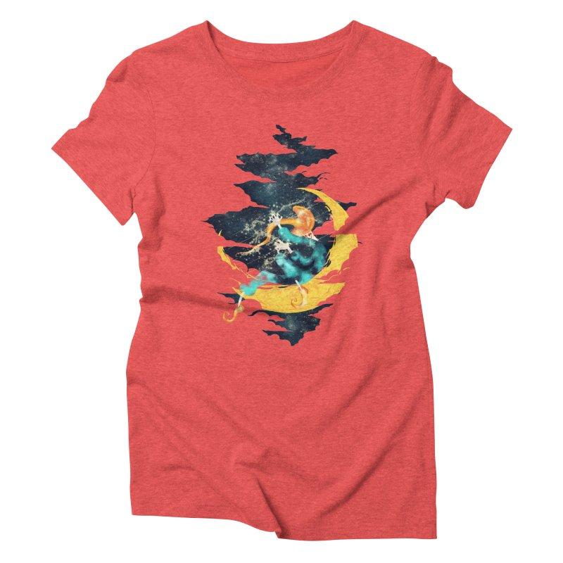 Moon Women's Triblend T-shirt by franklymonkey's Artist Shop