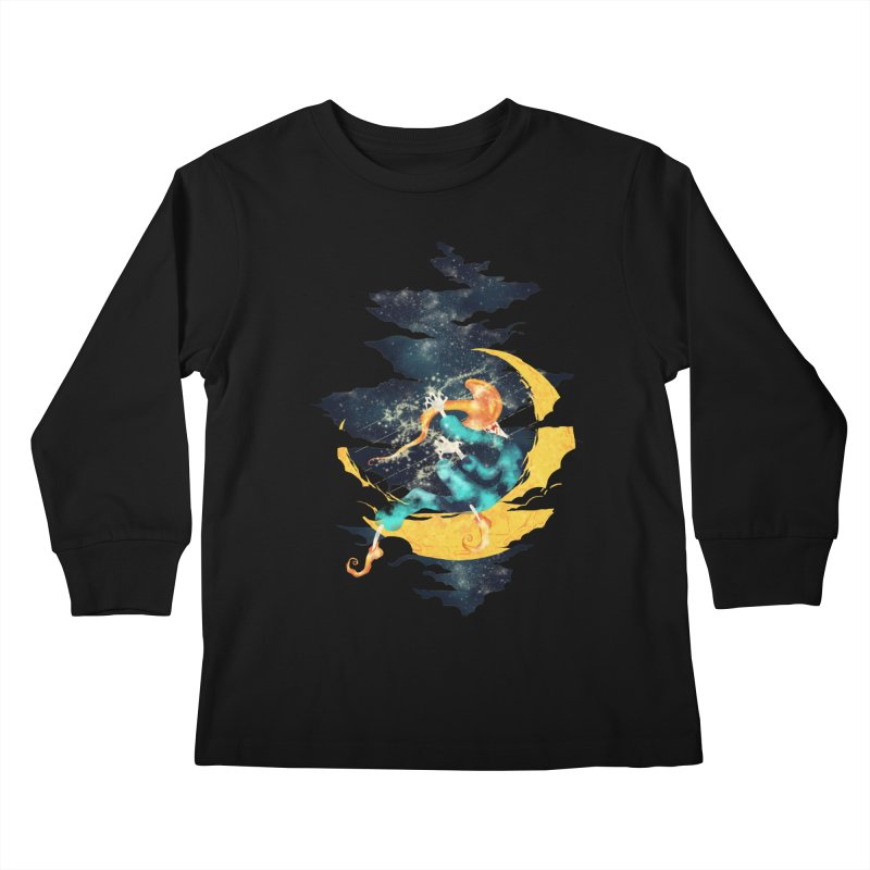 Moon Kids Longsleeve T-Shirt by franklymonkey's Artist Shop
