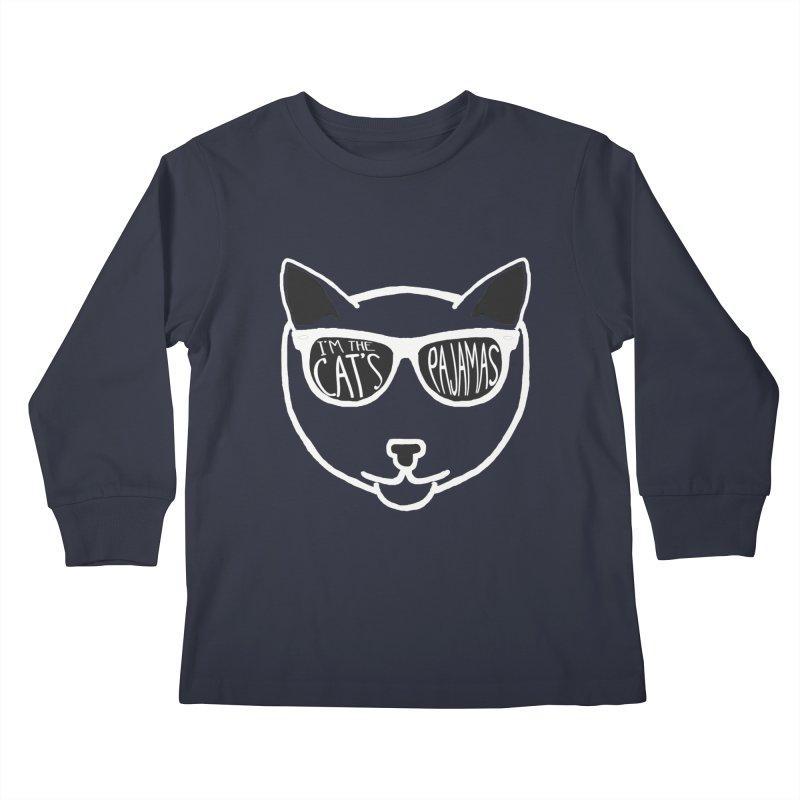 Cat's Pajama (dark garments) Kids Longsleeve T-Shirt by Frank and Elizabeth Myers Photograpy