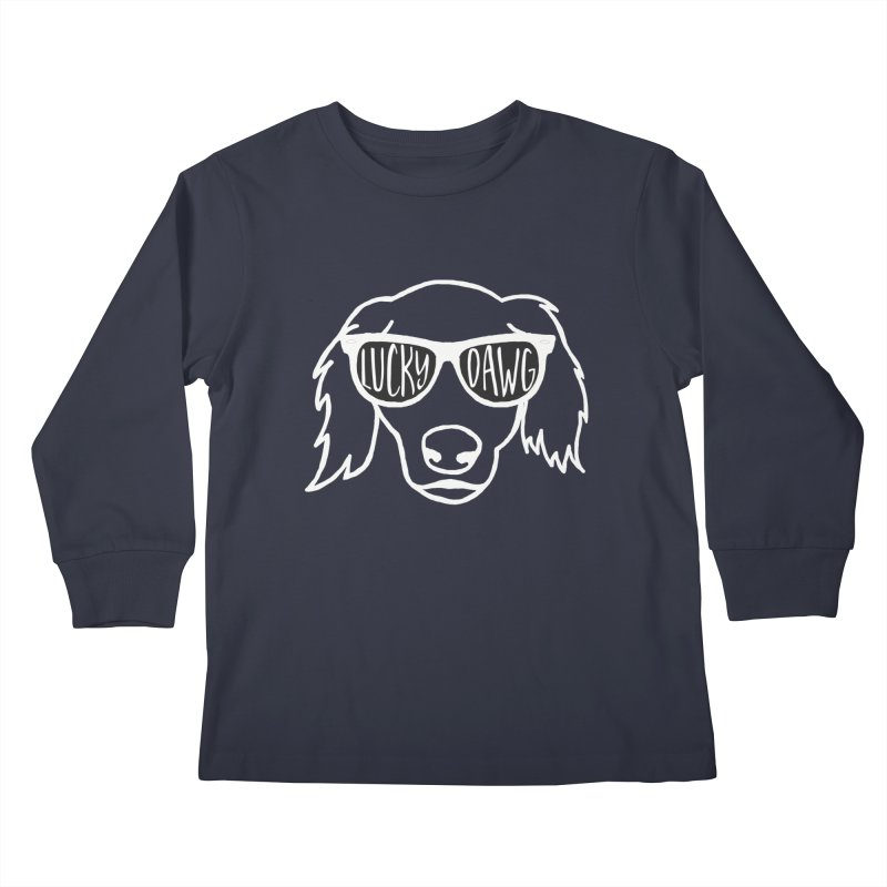 Lucky Dawg (dark garments) Kids Longsleeve T-Shirt by Frank and Elizabeth Myers Photograpy