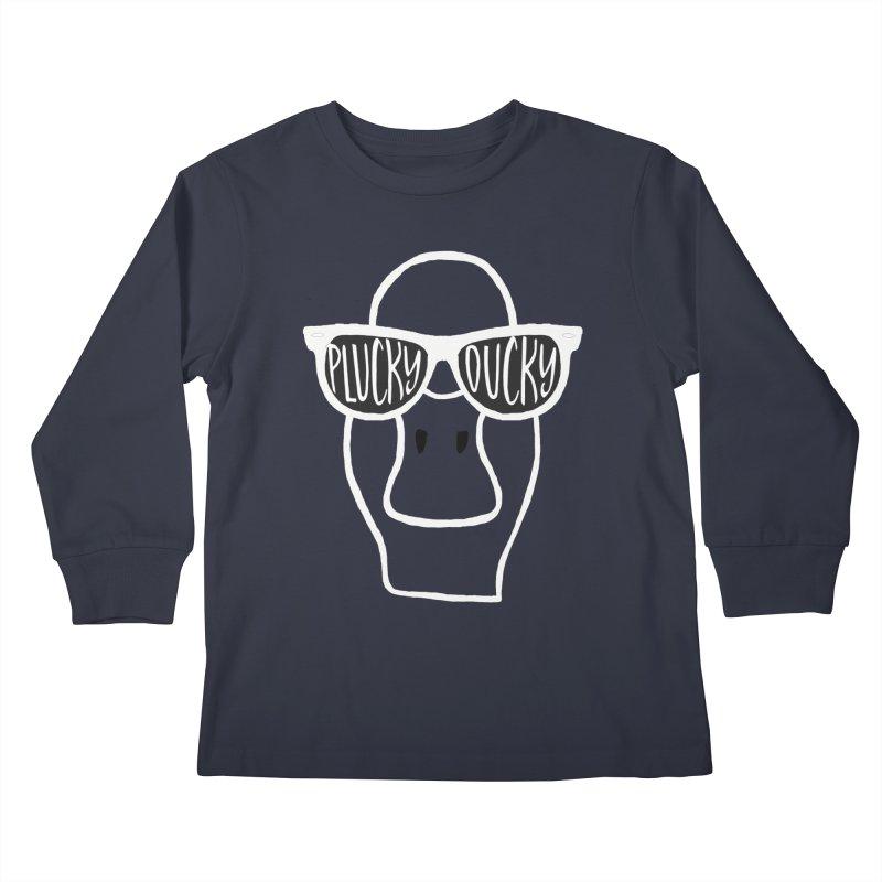 Plucky Ducky (dark garments) Kids Longsleeve T-Shirt by Frank and Elizabeth Myers Photograpy