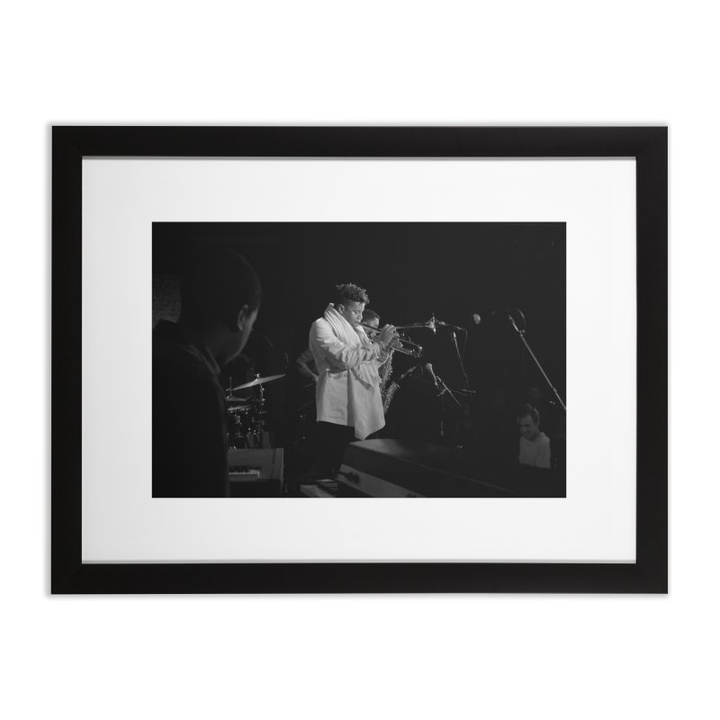 Christian Scott aTunde Adjuah at Art of Cool Home Framed Fine Art Print by Frank and Elizabeth Myers Photograpy