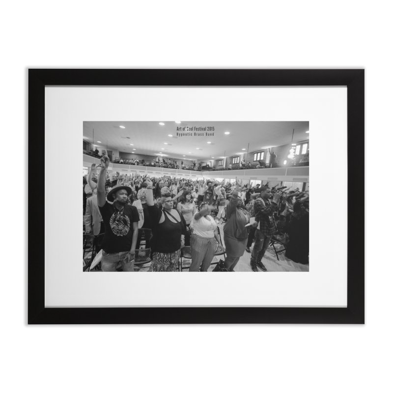 Hypnotic Brass Band at Art of Cool Festival Home Framed Fine Art Print by Frank and Elizabeth Myers Photograpy