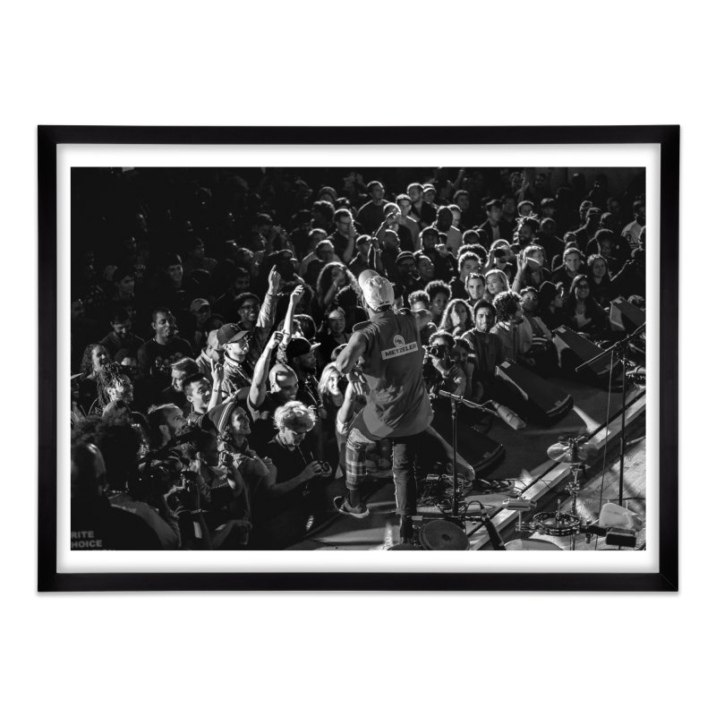 Anderson .paak at Art of Cool Festival Home Framed Fine Art Print by Frank and Elizabeth Myers Photograpy
