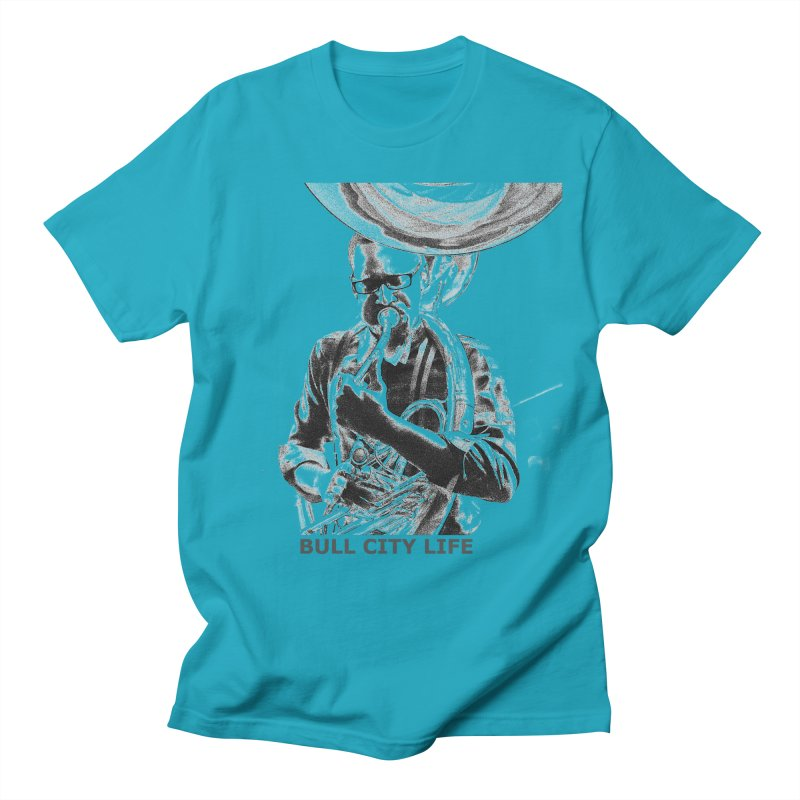 Bull City Life Tuba Men's T-Shirt by Frank and Elizabeth Myers Photograpy
