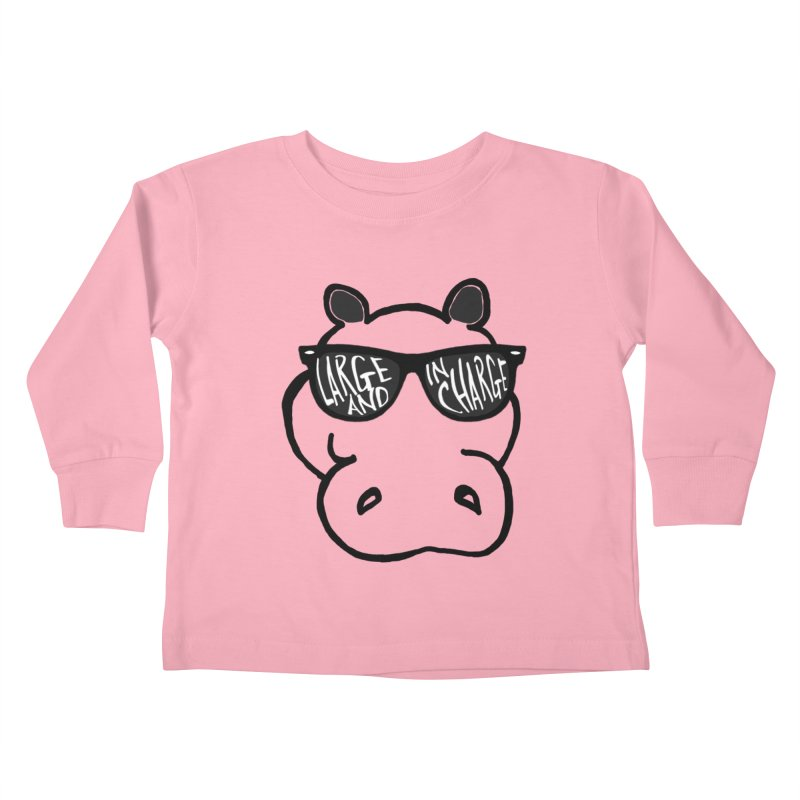 Large and in Charge Kids Toddler Longsleeve T-Shirt by Frank and Elizabeth Myers Photograpy