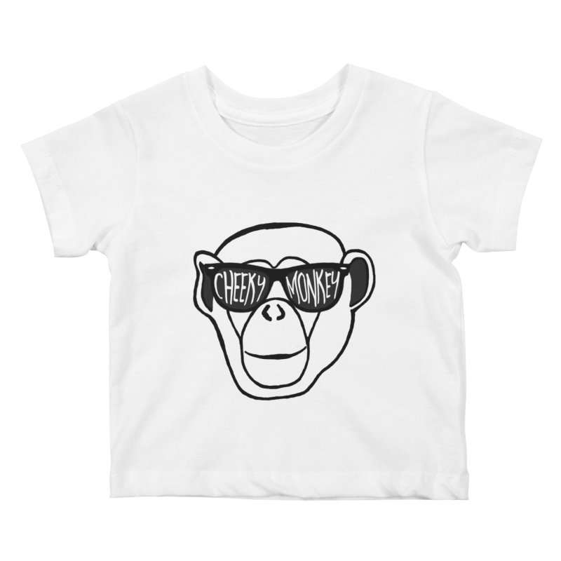 Cheeky Monkey Kids Baby T-Shirt by Frank and Elizabeth Myers Photograpy