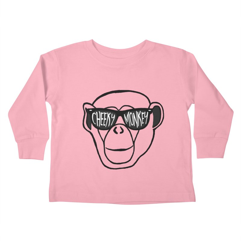 Cheeky Monkey Kids Toddler Longsleeve T-Shirt by Frank and Elizabeth Myers Photograpy
