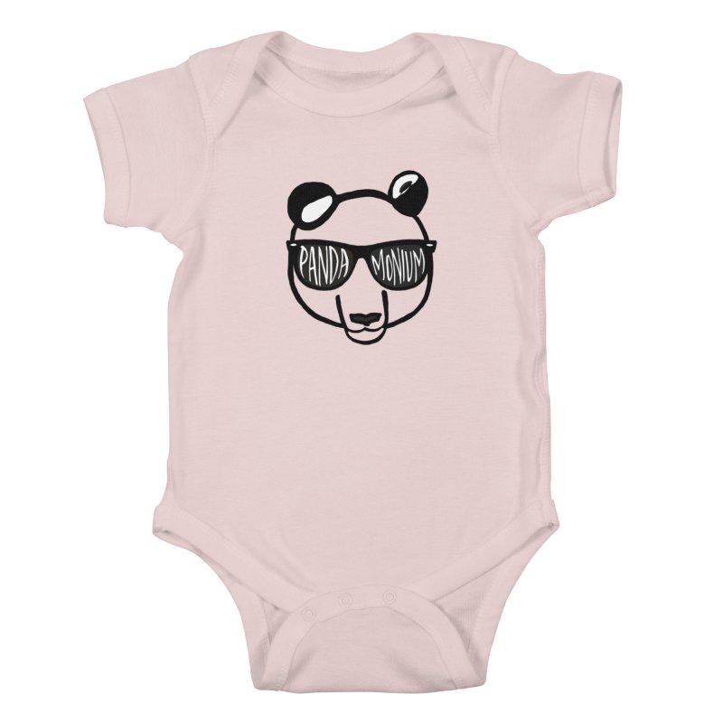 Pandamonium Kids Baby Bodysuit by Frank and Elizabeth Myers Photograpy