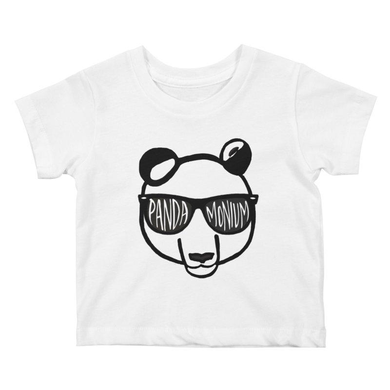 Pandamonium Kids Baby T-Shirt by Frank and Elizabeth Myers Photograpy