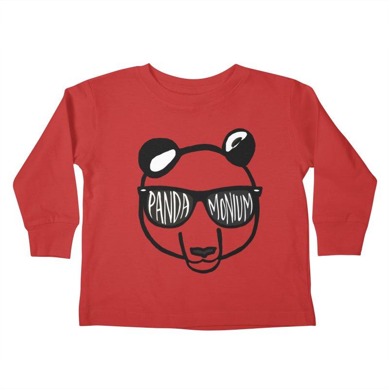 Pandamonium Kids Toddler Longsleeve T-Shirt by Frank and Elizabeth Myers Photograpy