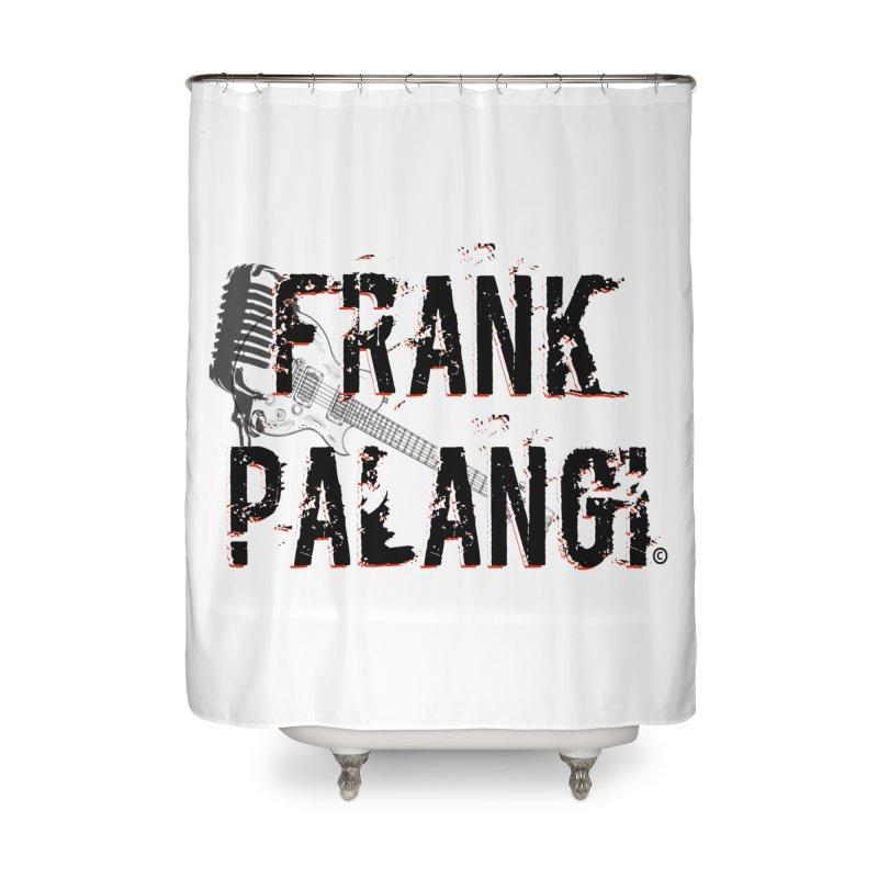 Frank Palangi Text Logo 1 Home Shower Curtain by Frank Palangi's Artist Shop