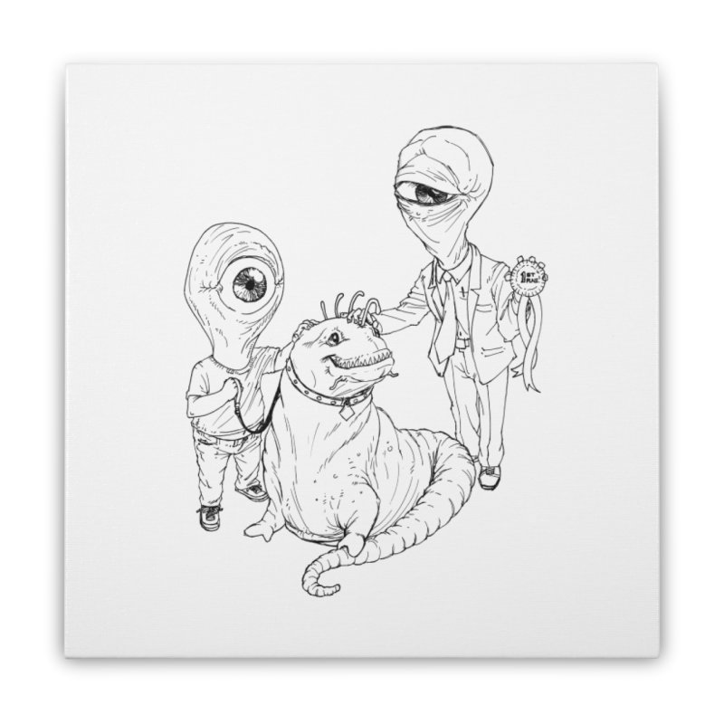 Beast in show Home Stretched Canvas by Franky Nieves Shop