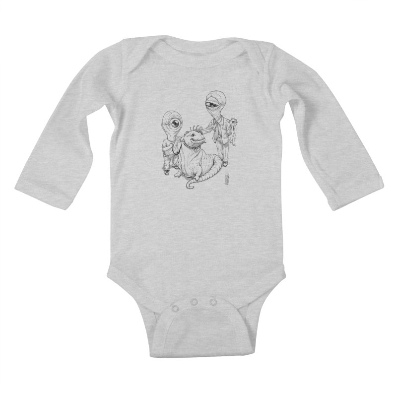Beast in show Kids Baby Longsleeve Bodysuit by Franky Nieves Shop