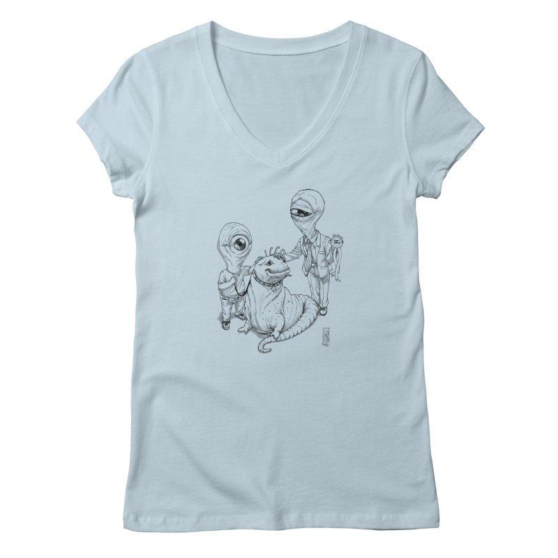 Beast in show Women's V-Neck by Franky Nieves Shop