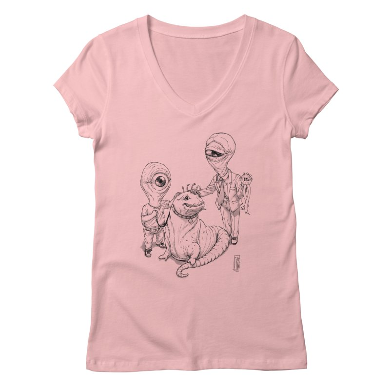 Beast in show Women's Regular V-Neck by Franky Nieves Shop