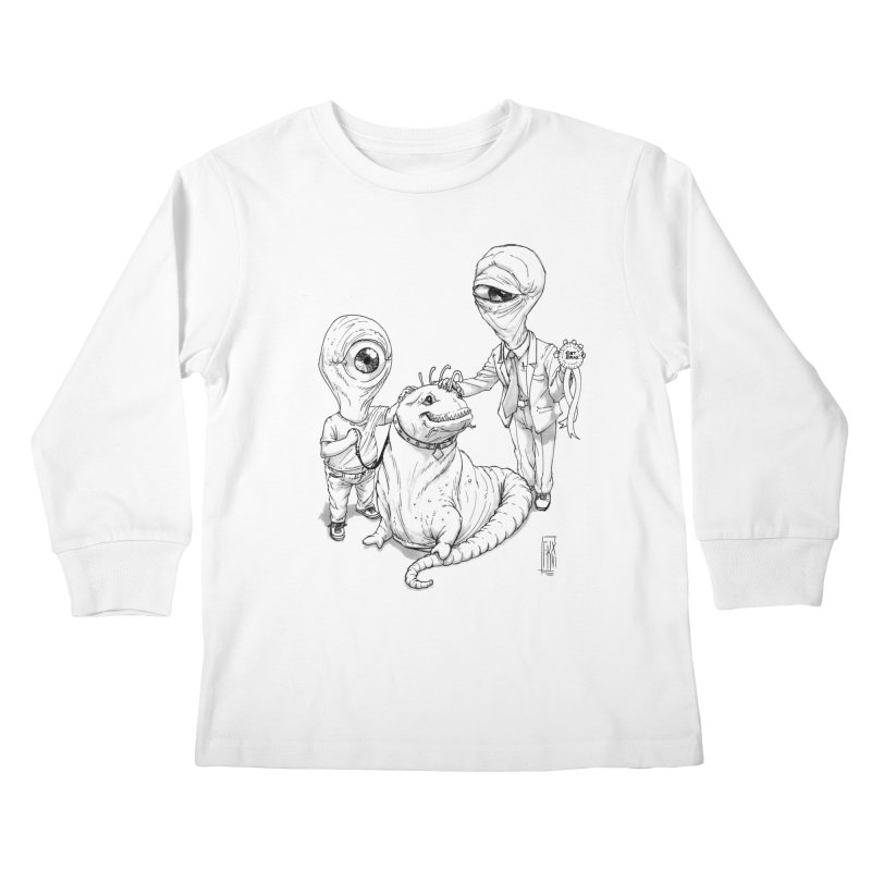 Beast in show Kids Longsleeve T-Shirt by Franky Nieves Shop