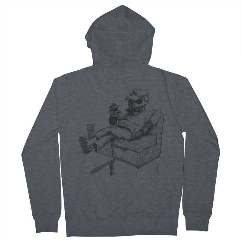 Resting pozole Men's French Terry Zip-Up Hoody by Franky Nieves Shop