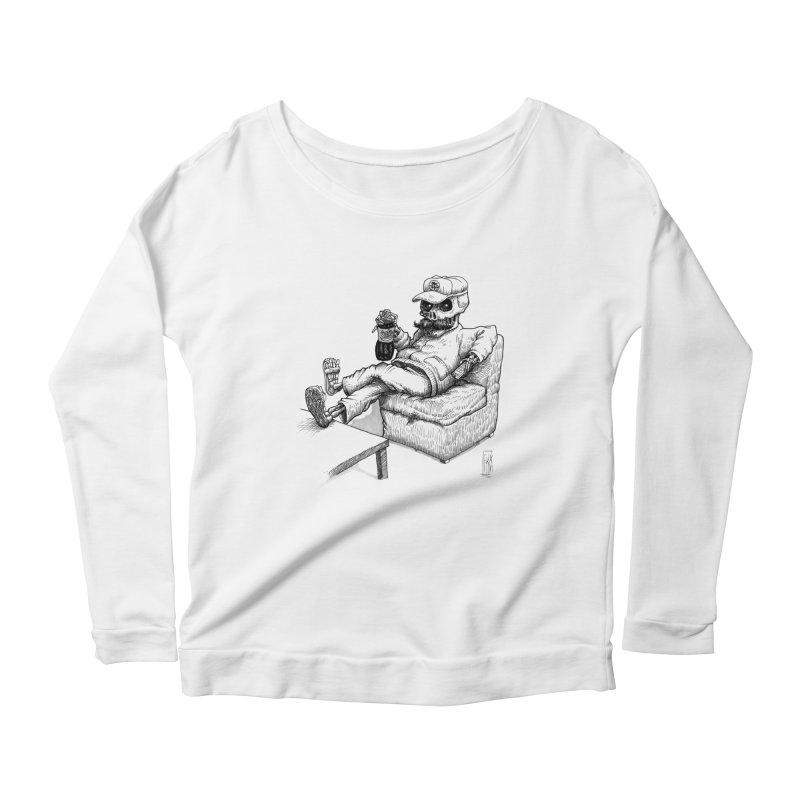 Resting pozole Women's Scoop Neck Longsleeve T-Shirt by Franky Nieves Shop