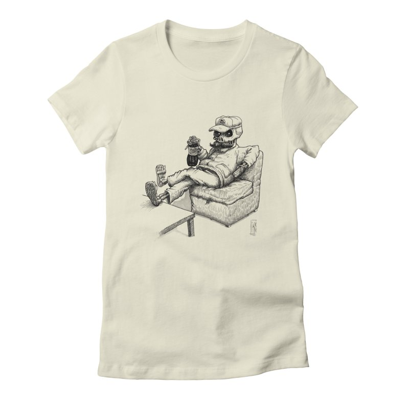 Resting pozole Women's Fitted T-Shirt by Franky Nieves Shop