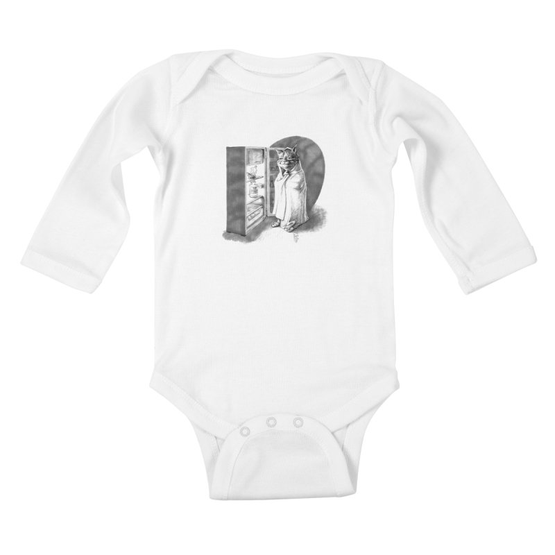Midnight snack Kids Baby Longsleeve Bodysuit by Franky Nieves Shop