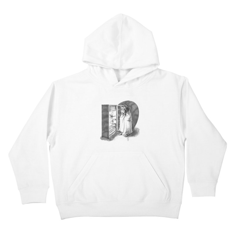 Midnight snack Kids Pullover Hoody by Franky Nieves Shop