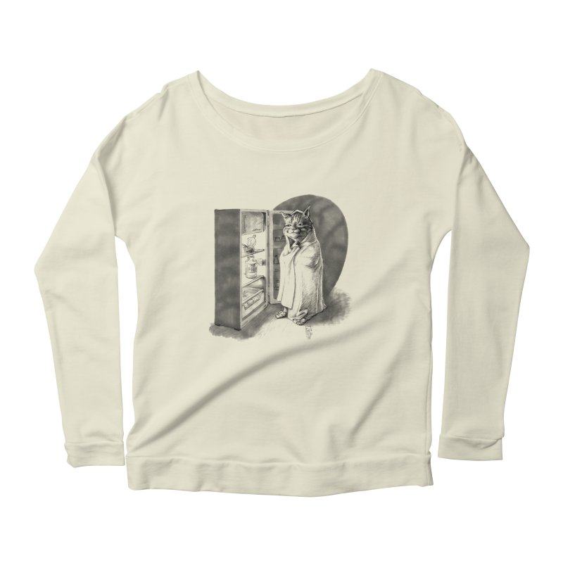 Midnight snack Women's Scoop Neck Longsleeve T-Shirt by Franky Nieves Shop