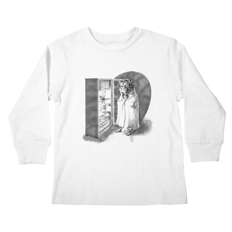 Midnight snack Kids Longsleeve T-Shirt by Franky Nieves Shop