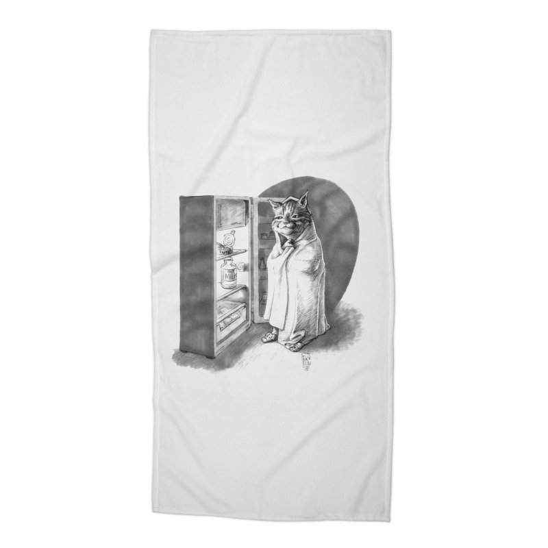 Midnight snack Accessories Beach Towel by Franky Nieves Shop