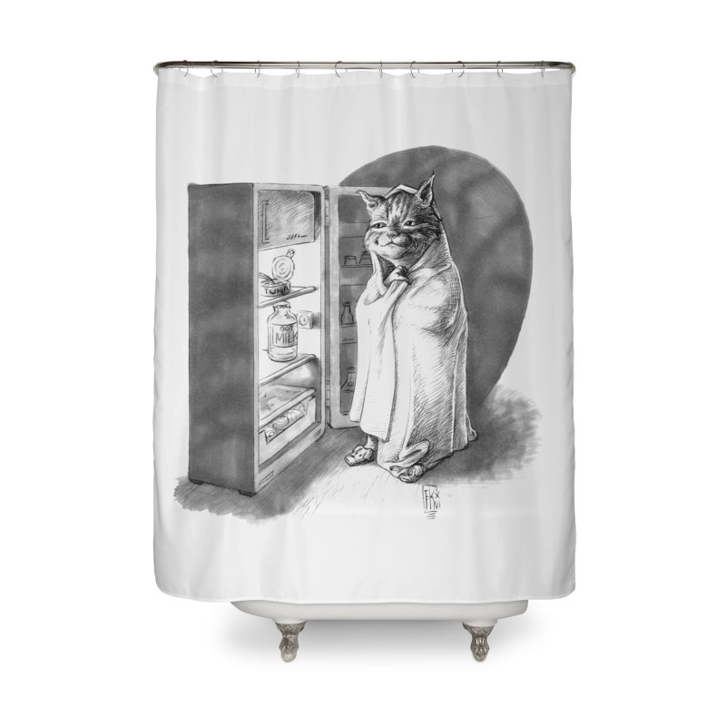 Midnight snack Home Shower Curtain by Franky Nieves Shop