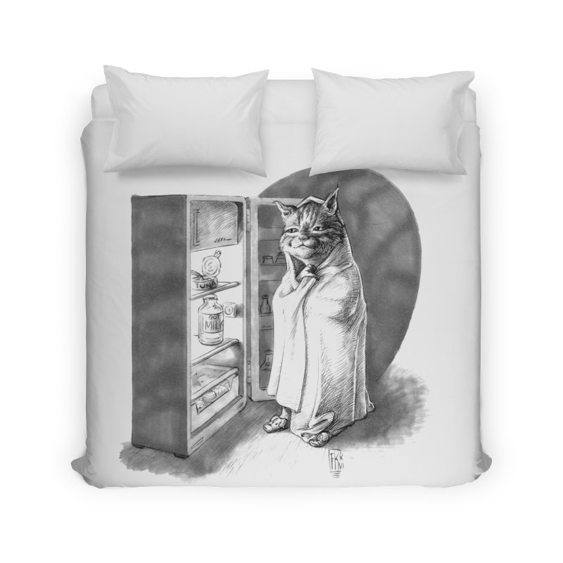 Midnight snack Home Duvet by Franky Nieves Shop