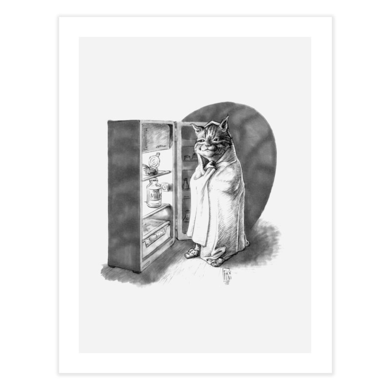 Midnight snack Home Fine Art Print by Franky Nieves Shop