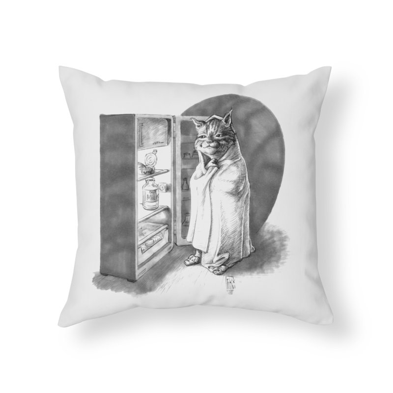 Midnight snack Home Throw Pillow by Franky Nieves Shop