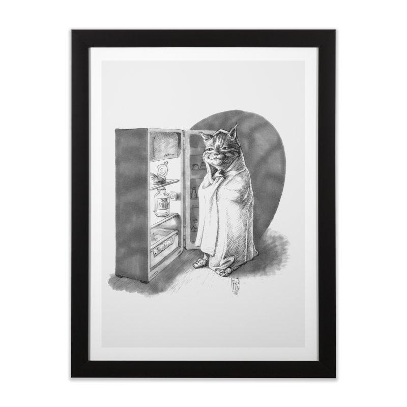 Midnight snack Home Framed Fine Art Print by Franky Nieves Shop