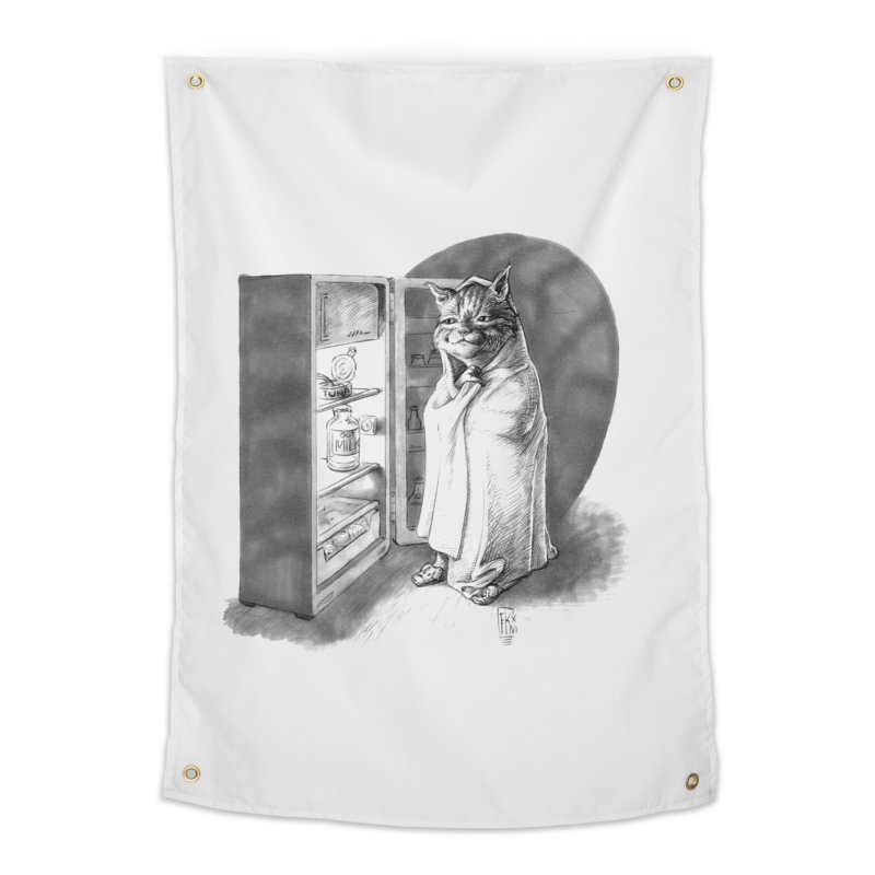 Midnight snack Home Tapestry by Franky Nieves Shop
